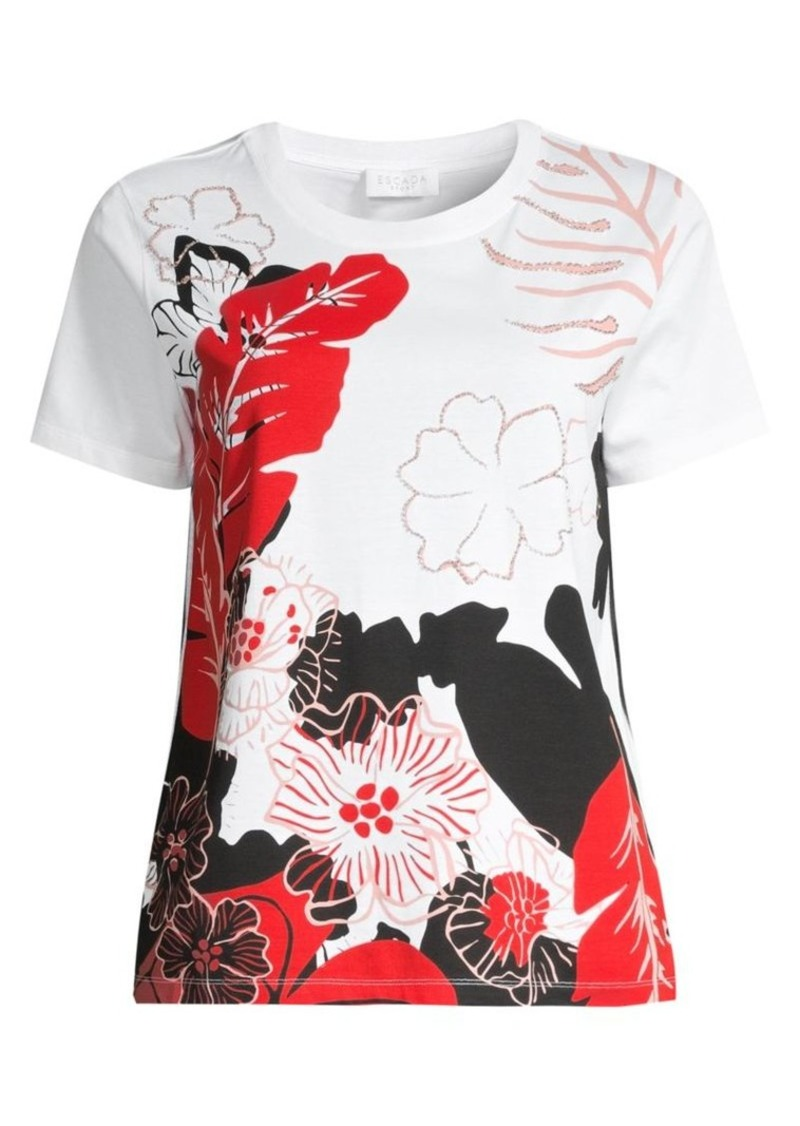 Escada Floral Graphic T-Shirt