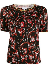 Escada floral intarsia knitted top