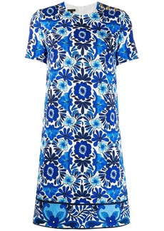Escada floral jacquard dress