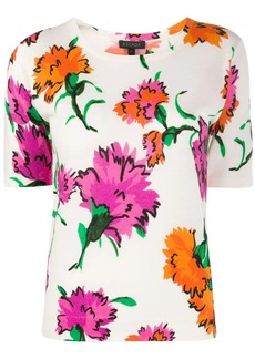 Escada floral knitted T-shirt