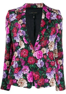 Escada floral print blazer