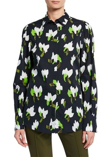 Escada Floral-Print Button-Front Shirt