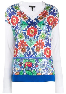 Escada floral two-layer shirt