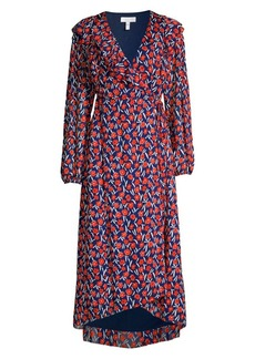 Escada Floral Wrap Dress