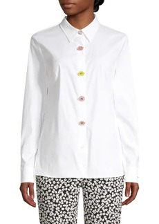 Escada Flower Button Cotton Shirt