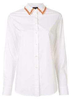 Escada flower collar long sleeve shirt
