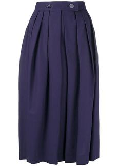 Escada front pleat full skirt