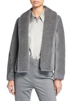 Escada Fuzzy Alpaca & Wool Topper Jacket