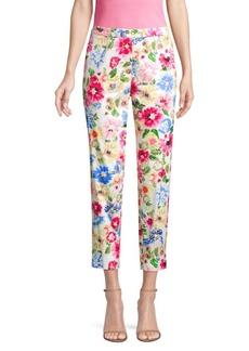 Escada Garden Floral Cropped Pants