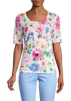 Escada Garden Floral Knit Top