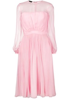 Escada gathered front dress