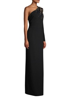 Escada Geliana One-Shoulder Column Gown