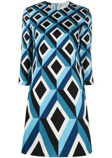 Escada geometric-print shift dress