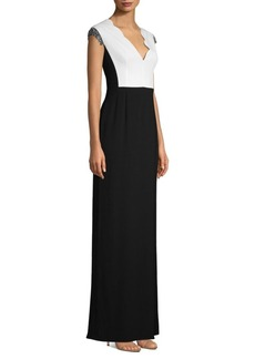 Escada Giannah Scalloped Sheath Gown