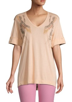 Escada Graphic V-Neck Top