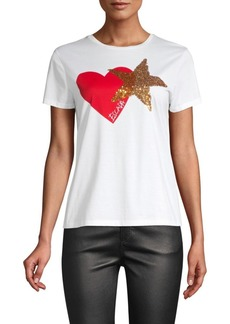 Escada Heart & Sequin Star Tee