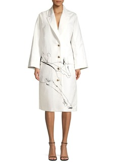 Escada Horse Race Trench Coat