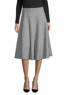Escada Houndstooth A-Line Skirt