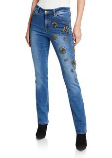 Escada J673 Embellished Stretch-Denim Jeans