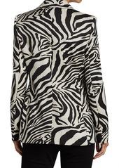 Escada Jacquard Zebra-Print Blazer Jacket