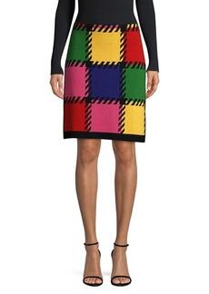 Escada Knit Patchwork Skirt