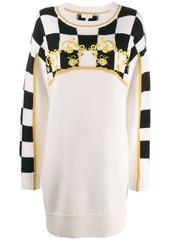 Escada knitted Checkerboard dress