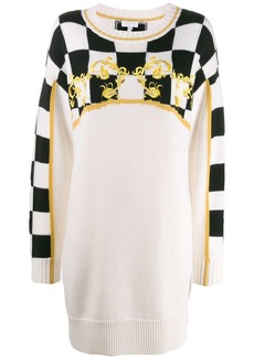 Escada knitted Checkerboard dress