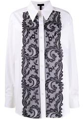 Escada lace detail boxy fit shirt