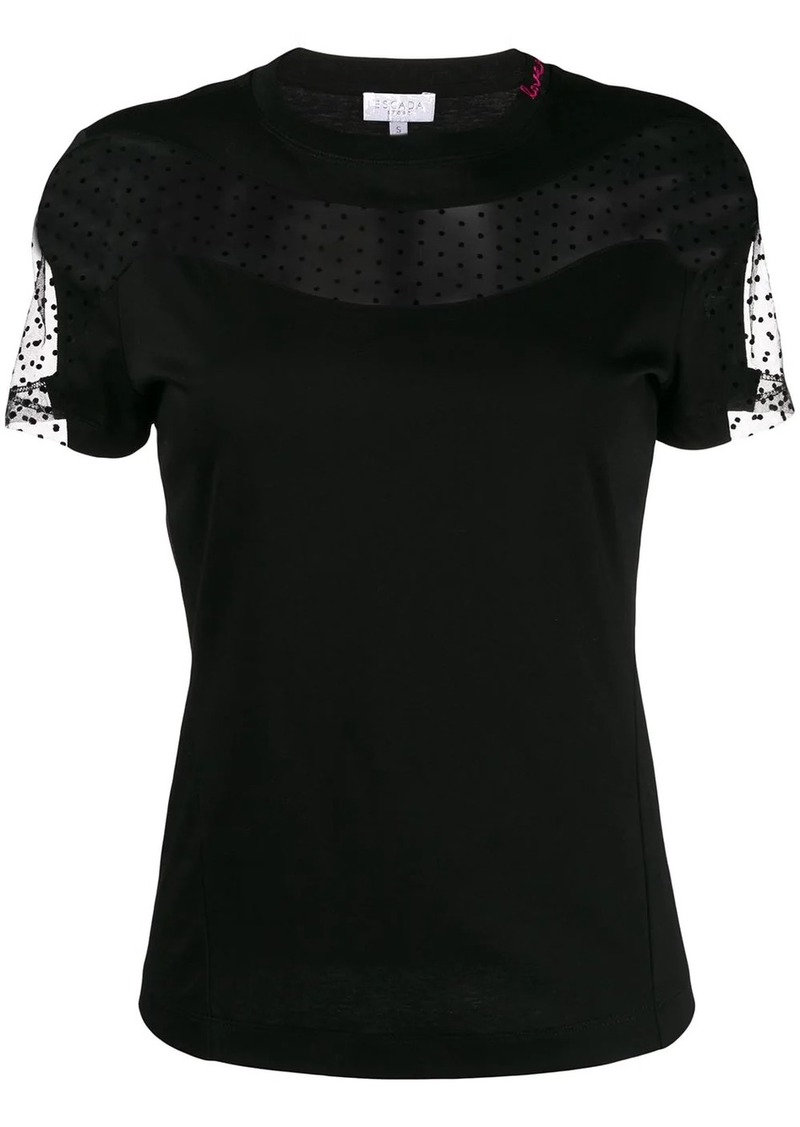Escada lace insert T-shirt
