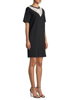Escada Lace Insert T-Shirt Dress