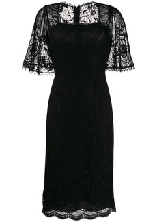 Escada lace panel dress