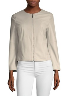 Escada Lamar Lambskin Leather Jacket