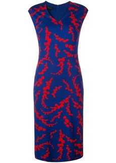 Escada leaf-print dress
