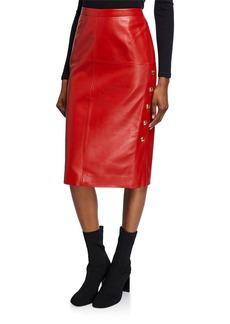Escada Leather Pencil Skirt