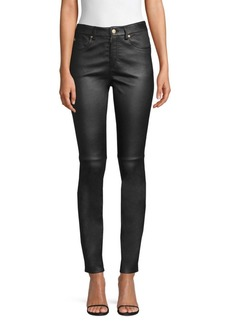 Escada Leather Skinny Jeans