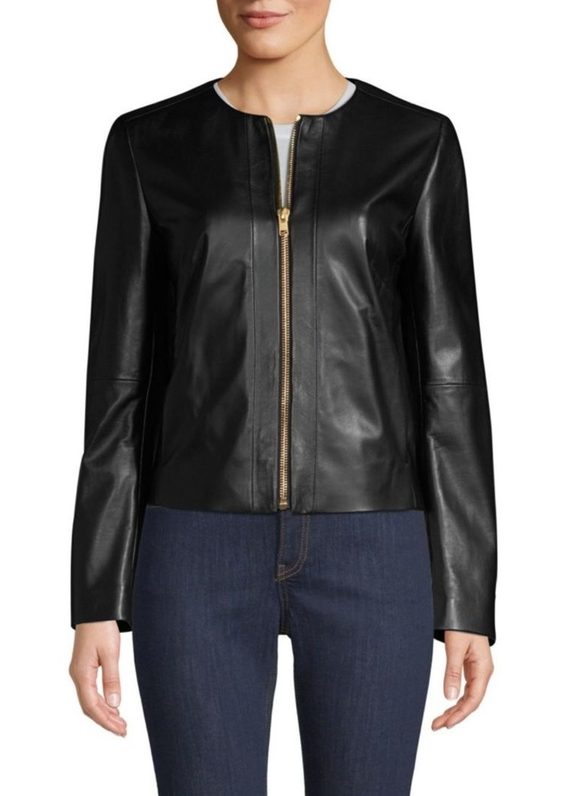 Escada Leather Zip Jacket