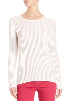 Escada Lightweight Ribbed Pullover
