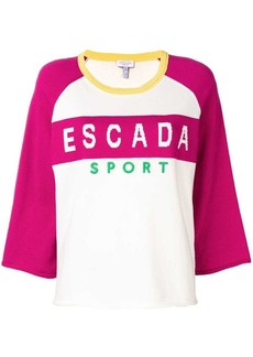 Escada logo crew neck sweater