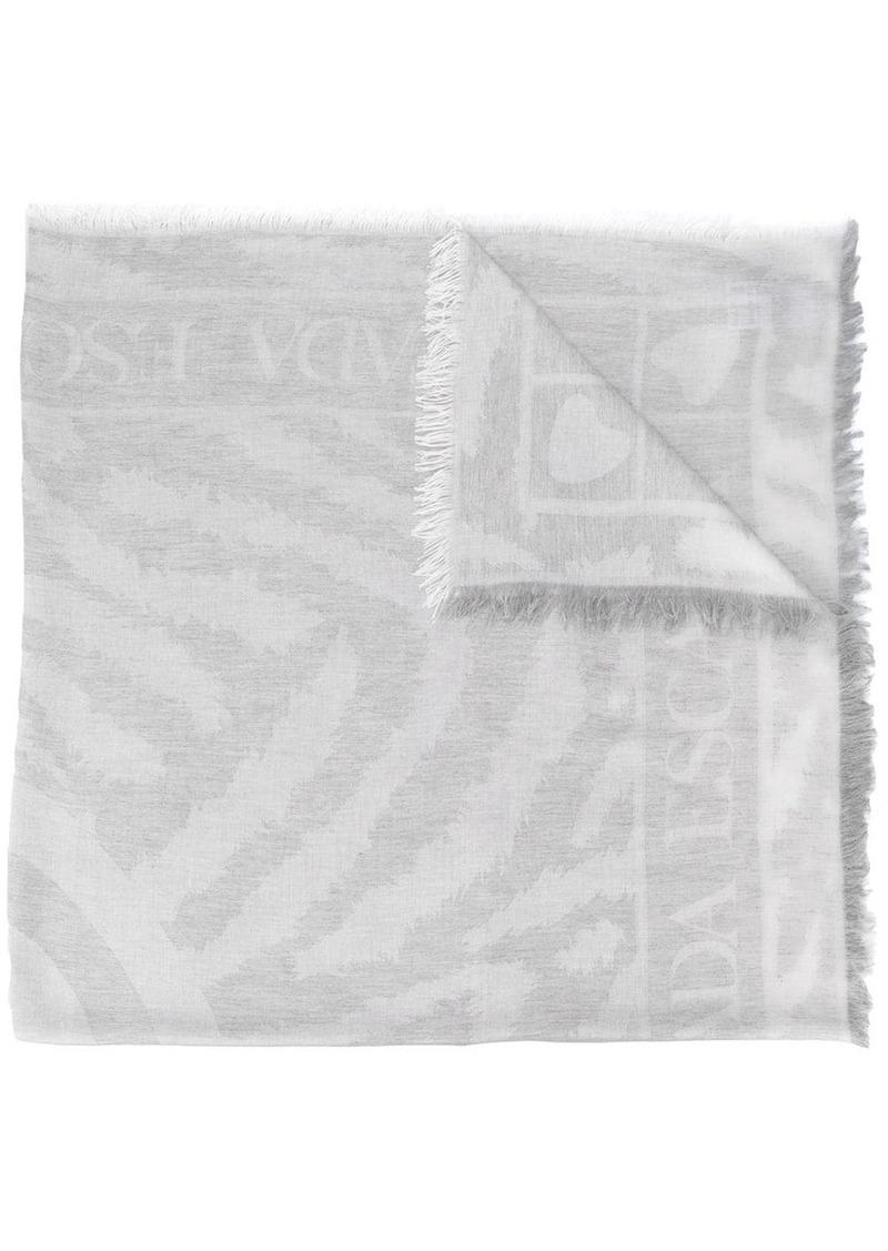 Escada logo knitted scarf
