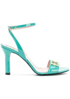 Escada logo plaque heeled sandals