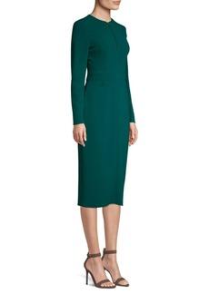 Escada Long-Sleeve Midi Dress