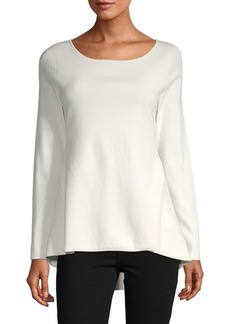 Escada Long-Sleeve Peplum Top