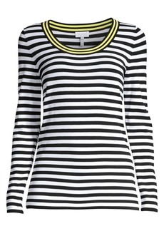 Escada Long Sleeve Striped Knit Top