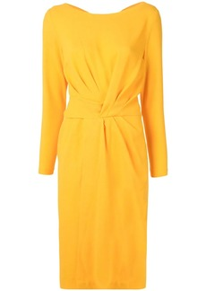 Escada long-sleeved tie-back dress