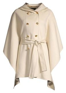 Escada Madisona Hooded Wool & Cashmere Cape Coat
