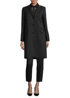 Escada Malvern Metallic Wool Coat