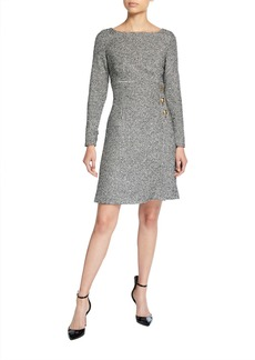 Escada Mini Houndstooth Tweed Dress