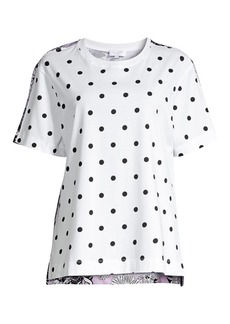 Escada Mini Polka Dot Floral Back Tee