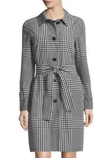 Escada Muba Houndstooth Rain Jacket