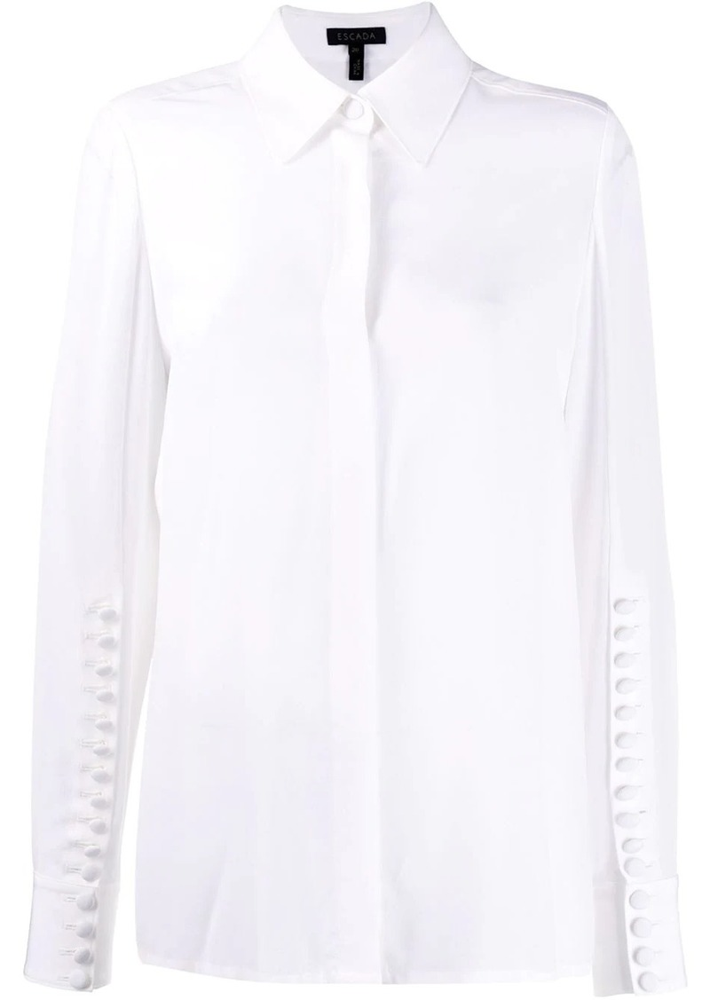 Escada multi-button detail shirt